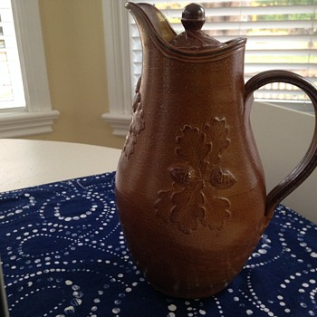pottery jug with lid