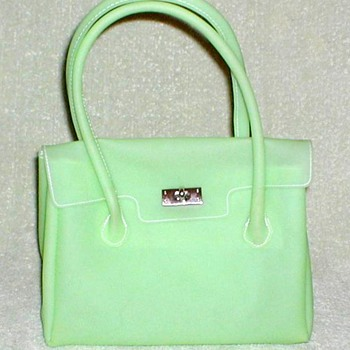 Lime Green Frosted Vinyl Handbag