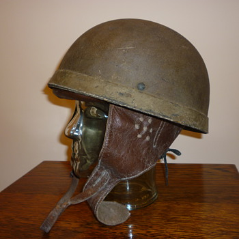 British WWII 1942 Dispatch Riders steel helmet. - Military and Wartime