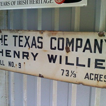 The Texas Company Oil Well Sign - Petroliana