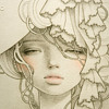 "Audrey Kawasaki ""Okimiyage"" Intaglio Modern Art Nouveau Print"