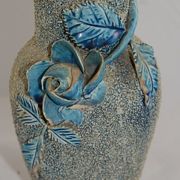Unusual Blue Vase marked 86 and the artist/maker unknown - Art Pottery