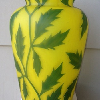 Cameo Vase - Art Glass