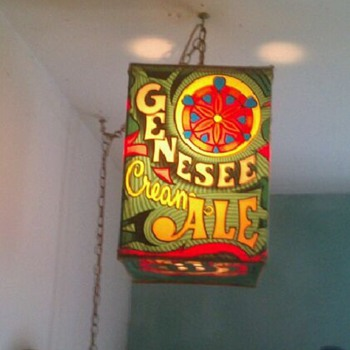Gennesee beer hanging light