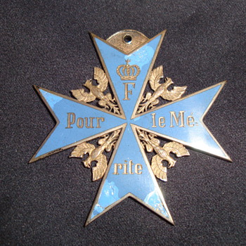 Prussian Order Pour le Mrite (&quot;Blue Max&quot;)? - Medals Pins and Badges