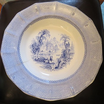Old Blue & White soup bowl