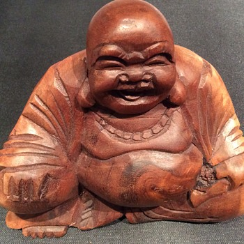 Vintage /antique wooden Buddha  - Asian