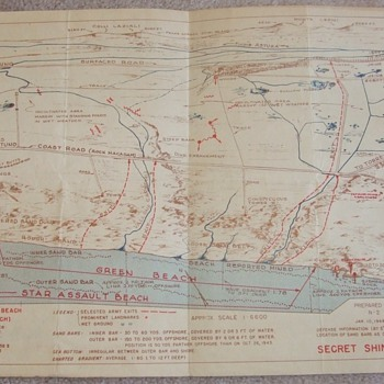 Operation Shingle (Anzio, 22 JAN 1944) Invasion Map for LCI- 220 - Military and Wartime