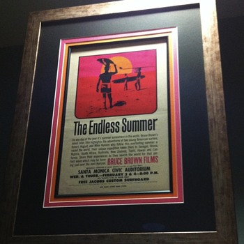 Custom Framed 1964 Pop Art The Endless Summer Handbill
