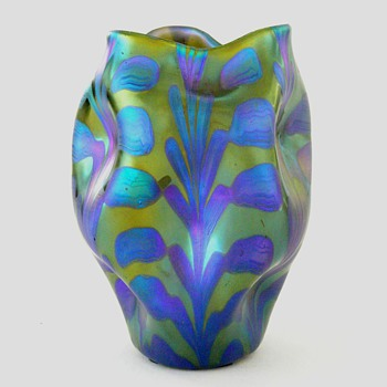 A small Loetz vase - Art Glass