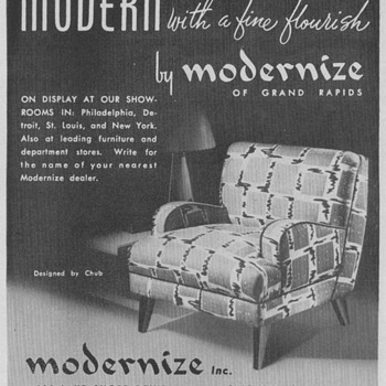 1950 Modernize Chair Advertisement - Advertising
