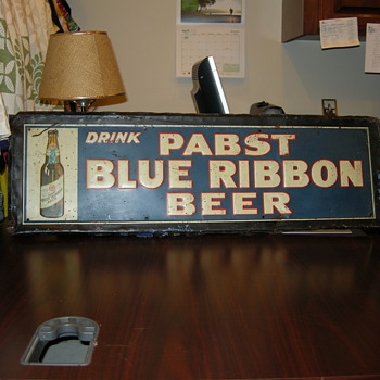 Early Pabst Beer Sign - Breweriana