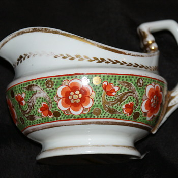 Crown Derby Antique Hand-Painted Creamer or Gravy Boat