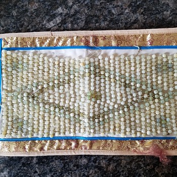 Oriental rug?  With jade beads. - Rugs and Textiles