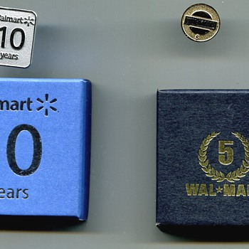 Walmart Long Service Pins - Medals Pins and Badges