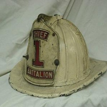 1960's era 16 comb white Cairns & Brother helmet - Firefighting