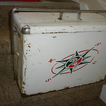 British American B/A  advertising cooler