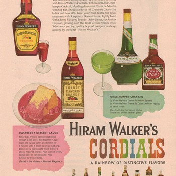 1955 Hiram Walker Cordials Advertisement - Advertising