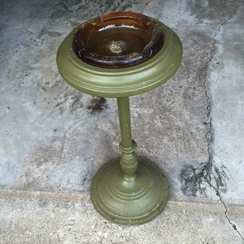 old ash tray stand - Tobacciana