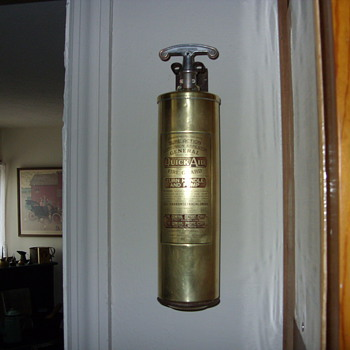 1930s brass fire extiguisher - Firefighting
