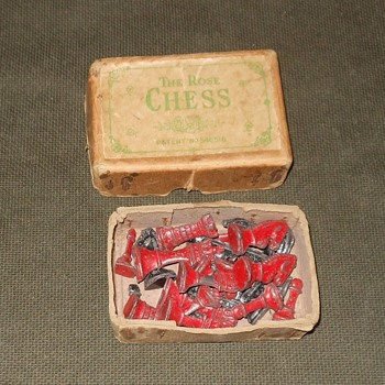 The Rose Chess Set Made in England Early 1940s