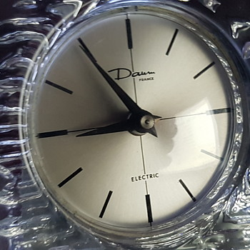 Daum glass clock..