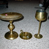 brass goblet candle holder