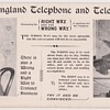 New England Telephone Instruction Card