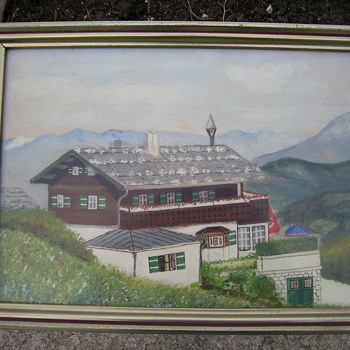 German Berghof Painting - Military and Wartime