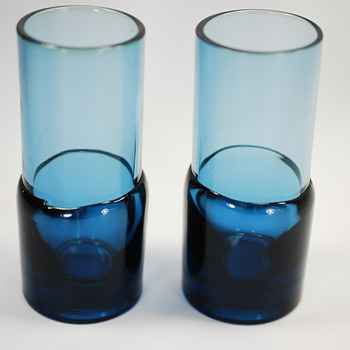Hand Blown Mid Century Modern Cordial Glasses