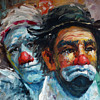 I need help with signature......Oil Painting of Clowns