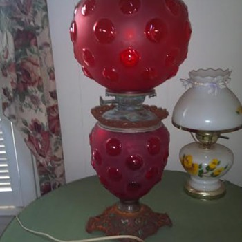 Vintage Red Lamp - Lamps