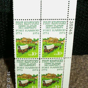 1974 First Kentucky Settlement Fort Harrod 10¢ Stamps - Stamps