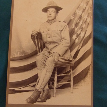 Cabinet card of 16th Infantry soldier at FT Crook