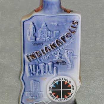 1971 Jim Beam Commemorative Bottle - Bottles
