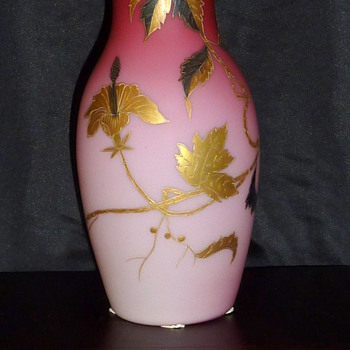 Harrach Peach blow? Pink Cased glass? Nooooo, it's Blossom!  - Art Glass