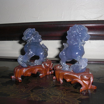 Chinese foo dogs lions - Asian