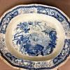 Blue and White Ceramic Platter