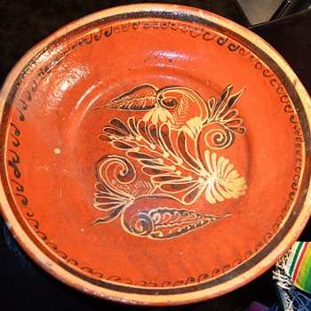 Extremely large Mexican Pottery Bowl - Tlaquepaque? - Art Pottery