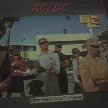 "AC/DC ""Dirty Deeds Done Dirt Cheap  "" - Records"