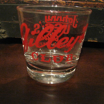 Night club shot glass Pasadena Texas  - Glassware