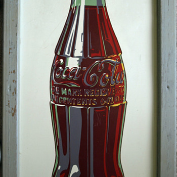 Porcelain Enamel Metal Coke Sign - Coca-Cola