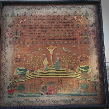 1803 Embroidery by a 10 year old girl