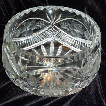 ABP floral period cut glass bowl?