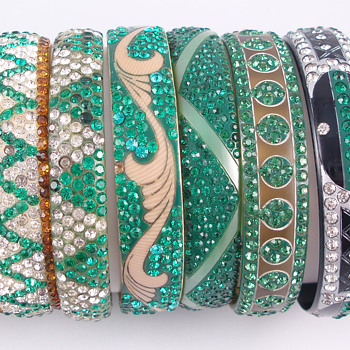 Deco Celluloid Bracelets - Costume Jewelry