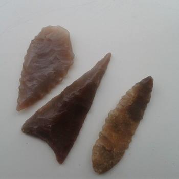 Flint arrowheads.