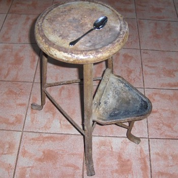 Stool from my wife's Grandmother's attic