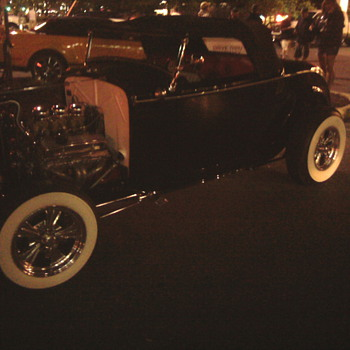 Hot Rods in Ocean City...  Coolest car night of our lives.