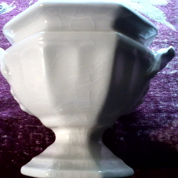 Tiny Little White Porcelain Urn / Circa 1956