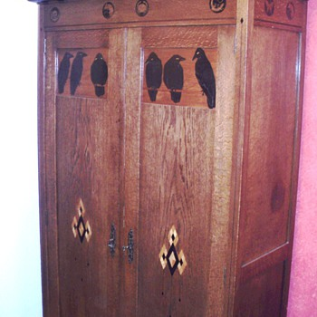 Cupboard by Napoleon Le Grand 1910 Amsterdam - Art Deco